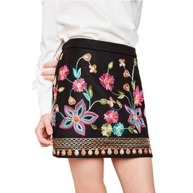 Hayden Hayden Embroidered High Waist Skirt