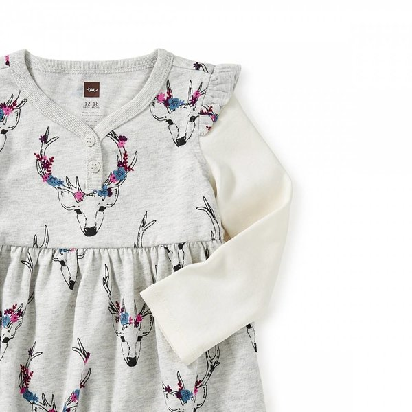 Tea Tea Oh Deer Baby Dress
