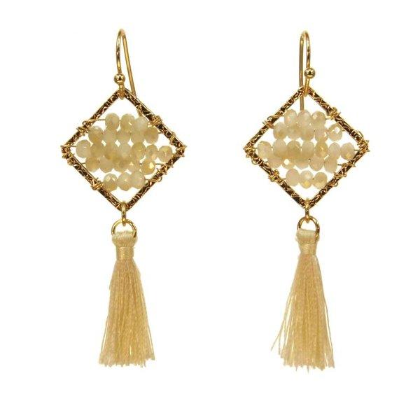 Kole Jewelry Design Crystal Tassel Earrings