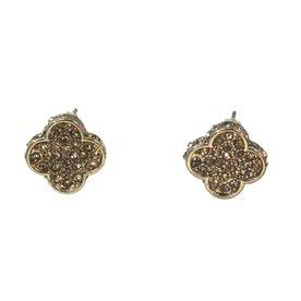 Kole Jewelry Design Crystal Clover Earrings