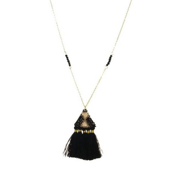 Kole Jewelry Design Seed Bead Tassel Necklace
