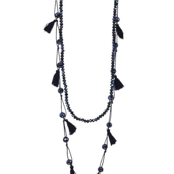 Kole Jewelry Design Crystal Tassel Necklace