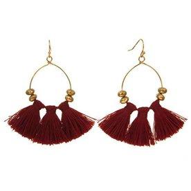 Kole Jewelry Design Triple Tassel Earrings