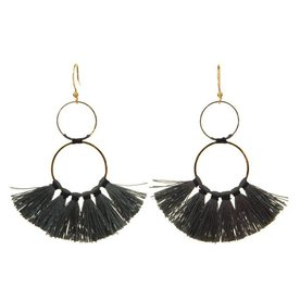 Kole Jewelry Design Tassels Circle Earrings