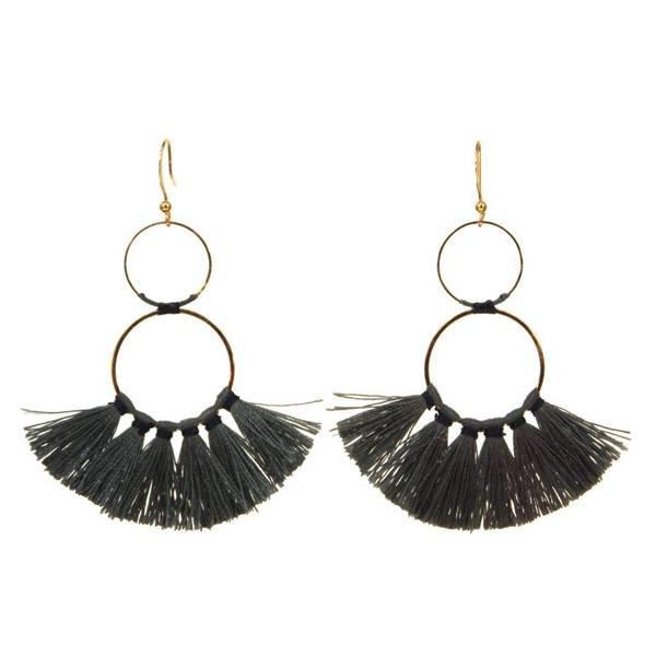 Kole Jewelry Design Tassels Circle Earrings