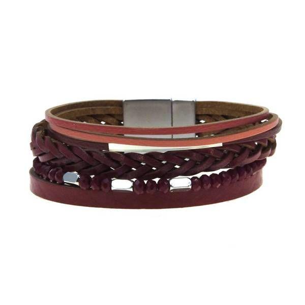 Kole Jewelry Design Faux Leather Bracelet