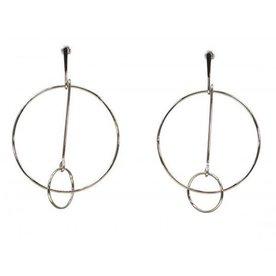 Kole Jewelry Design Metal Loop Earrings