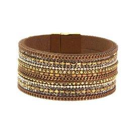 Kole Jewelry Design 3 Row Chain Bead Bracelet