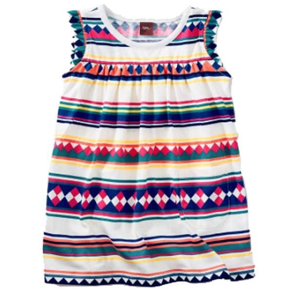 Tea Collection Tea Collection Striped Skirted Dress