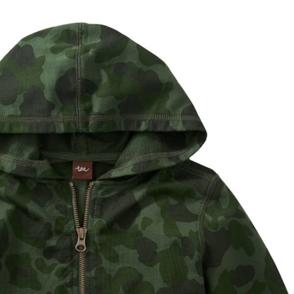 Tea Tea Collection Camo Zip Hoodie