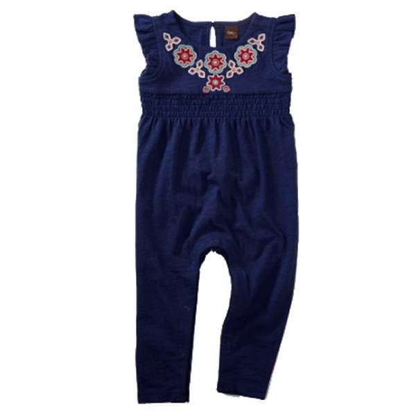 Tea Collection Tea Collection Embroidered Romper