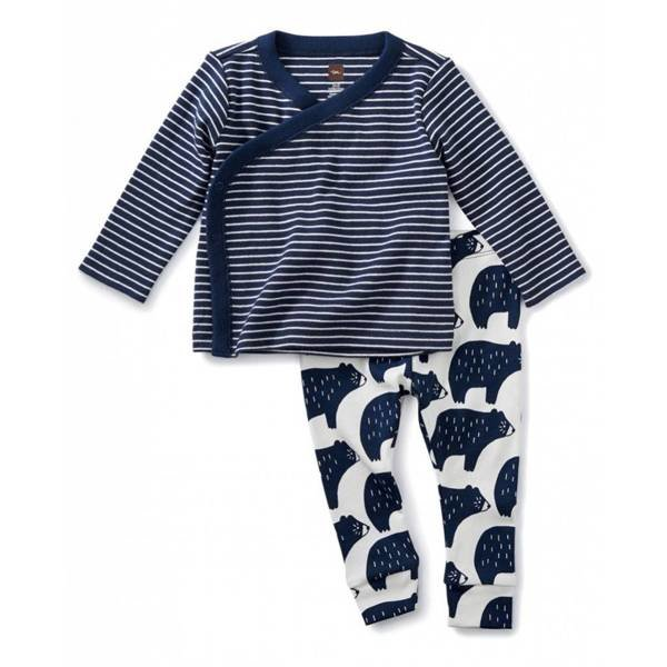 Tea Tea Collection Wrap Top Baby Outfit