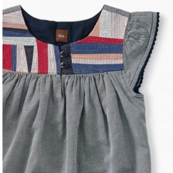 Tea Collection Tea Collection Patchwork Embroidered Dress