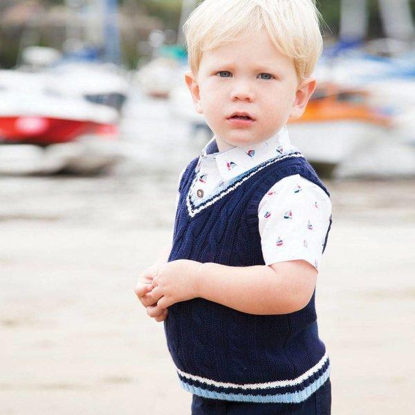 JoJo Maman Boys Boat Print Shirt