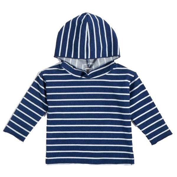 Miles Baby Miles Baby | Hooded Stripe Sweatshirt