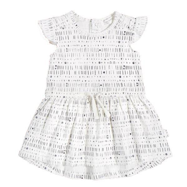 Miles Baby Miles Baby Girls White Knit Dress