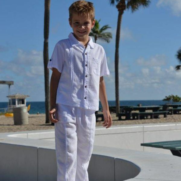 Cotton Natural Cotton Natural Boys Organic Pants