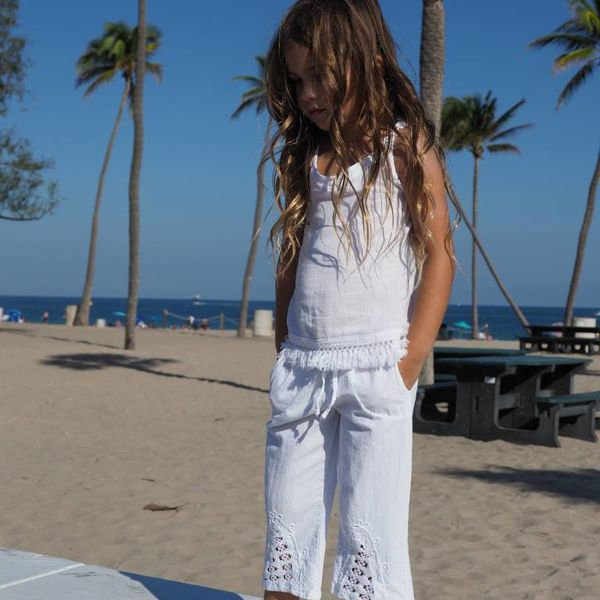 Cotton Natural Cotton Natural Girls Organic Capri