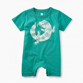 Tea Collection Tea Lizard Graphic Romper