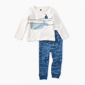 Tea Collection Tea Diving Whale 2PC Baby Set