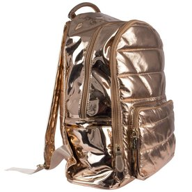 Metallic Puffy Backpack