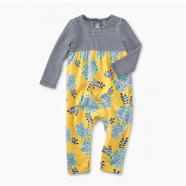 Tea Collection Tea Collection Baby Two-Tone Romper