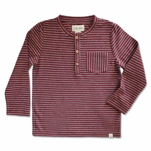 me & henry Me & Henry Striped Henley T-Shirt