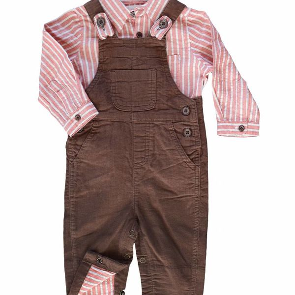 me & henry Me & Henry Boys Corduroy Overalls