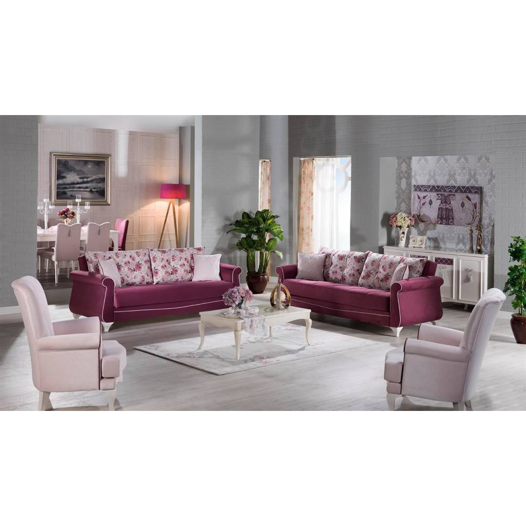 belissa murdum 4-piece living room set (3-3-b-b) - bellaria furniture