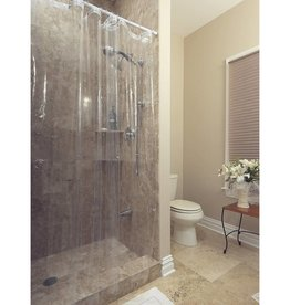 clear shower curtain liner with metal grommets