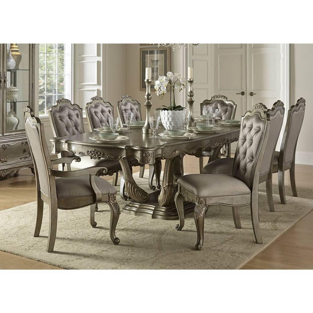florentina 9piece gold extendable dining room set