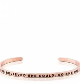 MANTRABAND SHE BELIEVED SHE COULD SO SHE DID ROSE GOLD