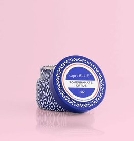 CAPRI BLUE/DPM FRAGRANCE 8.5 oz TRAVEL TIN Promegranate Citrus SIGNATURE COLLECTION