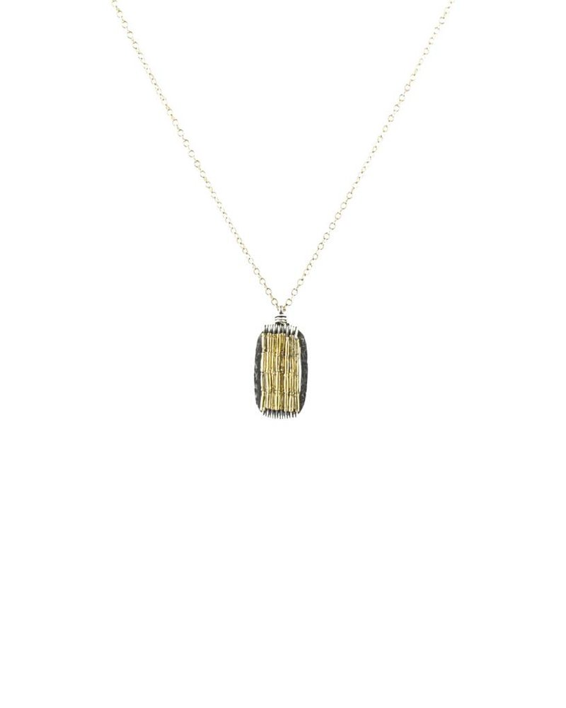 Dana Kellin Fashion Silver and Gold Necklace