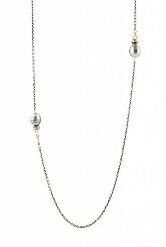 Dana Kellin Fine Gold, Tahitian Pearls, and Diamond Necklace