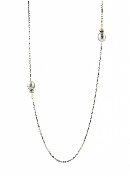 Dana Kellin Fine Gold, Tahitian Pearl, and Diamond Necklace