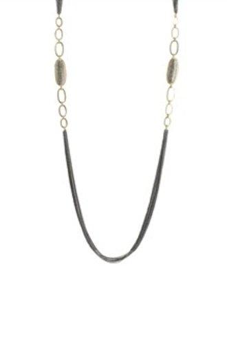 Dana Kellin Fine 14k Gold Link Pave Diamond Necklace