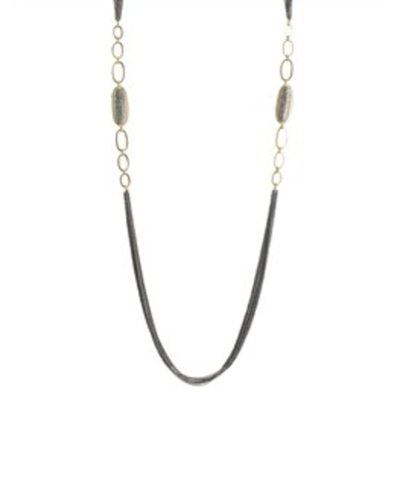 Dana Kellin Fine 14k Gold Link Pave Diamond Necklace