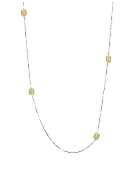 Dana Kellin Fine 14k Multi Grey Diamond Necklace