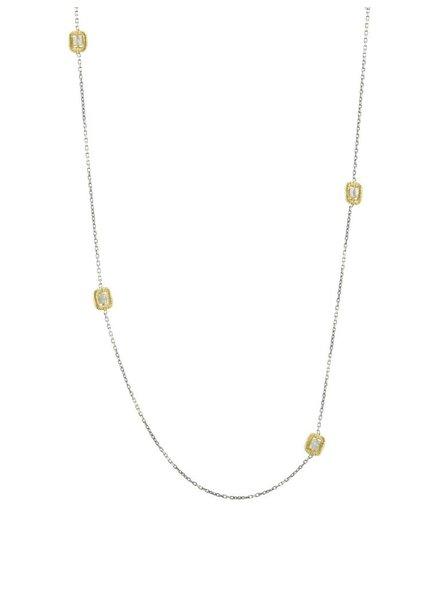 Dana Kellin Fine 14k Multi Grey Diamond Necklace