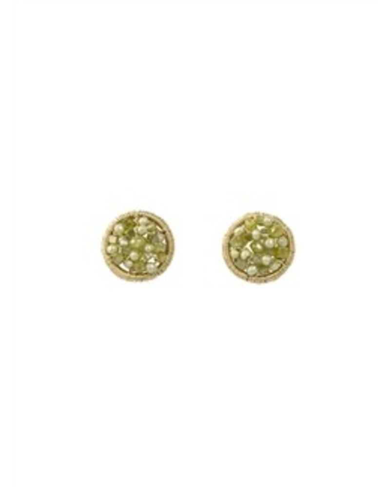 Dana Kellin Fine 14k Diamond and Pearl Cluster Studs