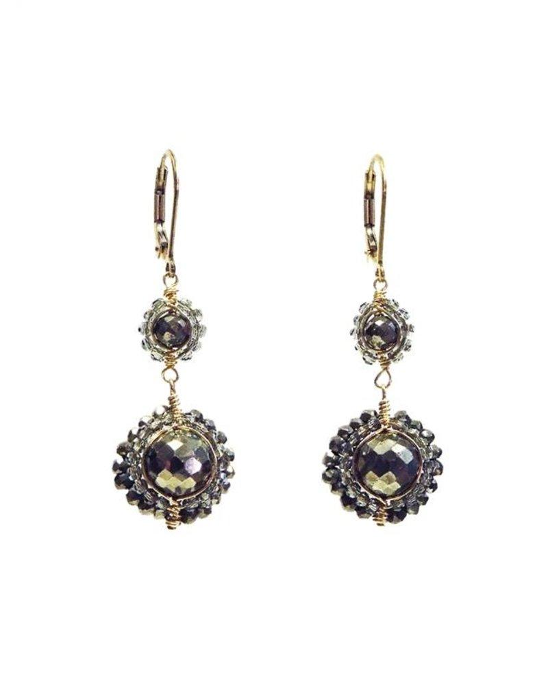 Dana Kellin Fashion Pyrite Earrings