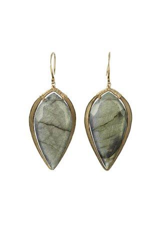 Dana Kellin Fine 14k Arrowhead Labradorite Earrings