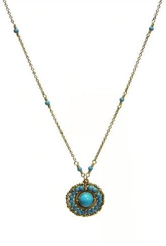 Dana Kellin Fashion Round Turquoise Necklace