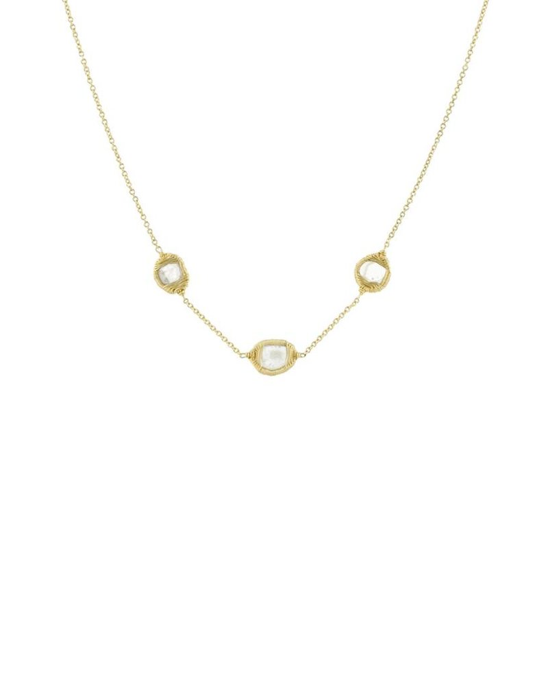 Dana Kellin Fine 14k Diamond Slice Trio Necklace