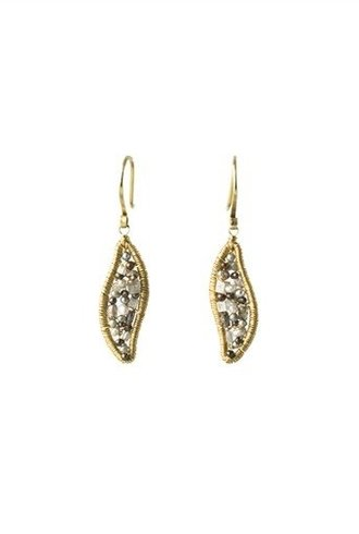 Dana Kellin Fine 14k Mix Diamond and Pearl Earrings