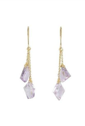 Dana Kellin Fashion Amethyst Dangle Earrings