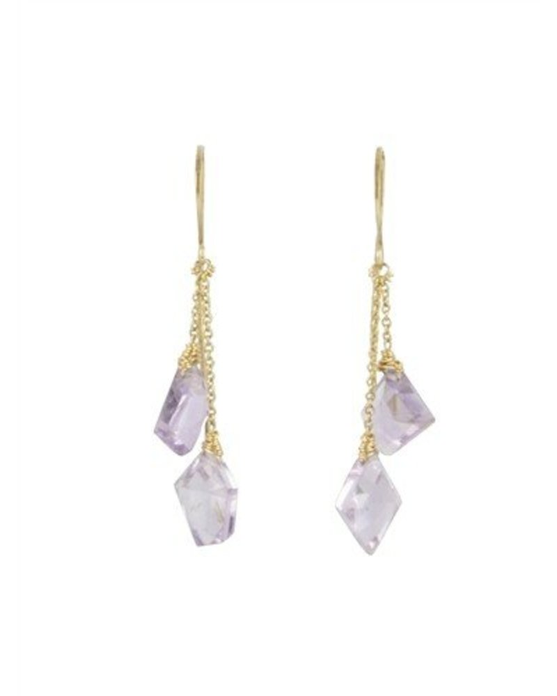 Dana Kellin Fashion Amethyst Dangle Earrings