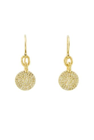 Dana Kellin Fine 14k Pave Diamond Circle Earrings