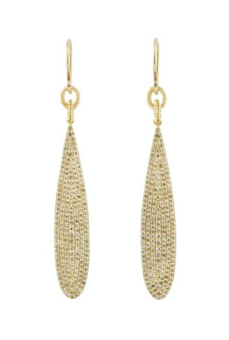 Dana Kellin Fine 14k Pave Diamond Teardrop Earrings